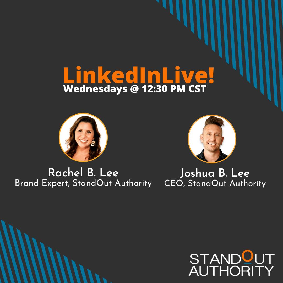 LinkedIn Live with Joshua B. Lee and Rachel B. Lee